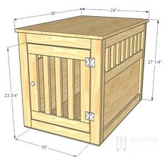 Large Wood Pet Kennel End Table tutorial