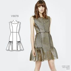 Love the lines of this dress. Sew the look with Vogue Patterns V9078 sewing pattern.