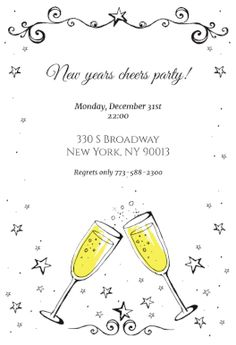 New Year Invitation Free Template Greetings Island