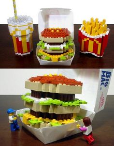 Lego Big Mac for you. Are you ready to make it?