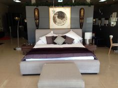 Purple is always a nice touch! Bedroom #EQ3ModernFurniture www.aruba-furniture.com