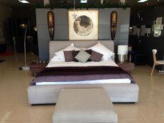 Purple is always a nice touch! Bedroom #EQ3ModernFurniture www.aruba-furniture.com