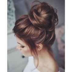 36 Messy wedding hair updos for a gorgeous rustic country wedding to... ❤ liked on Polyvore featuring hair and beauty