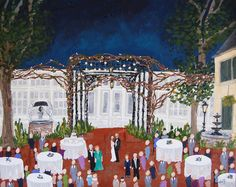 Live Event Painting | Color Me Nola  | Kristy Oustalet | Weddings | New Orleans | Baton Rouge