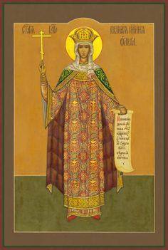 Classic Icons – Page 36 of 61 – Damascene Gallery Olga Of Kiev, Middle Age Fashion, Saint Helens, Sunday School Activities, Russian Folk Art, Son Of God, Orthodox Icons, Beautiful Paintings, Middle Ages