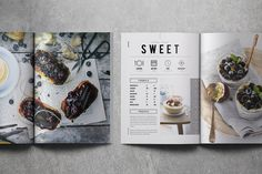 Indesign Document 2 sizes: & US letter 2 sizes: .IDML file Uses free fonts Help File Photographs Not Included Chef Cookbook, Cookbook Design, Cookbook Recipes, Kids Cookbook, Layout Design, Menu Design, Food Design, Design Ideas, Recipe Book Covers