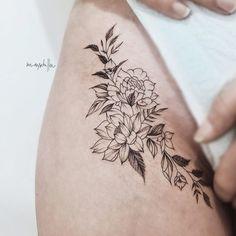 Tatoos, Art Tattoos, Tattoo Inspiration, Piercing, Hair Styles, Thigh, Body Art, Nova, Tattoo Ideas