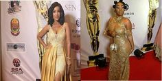 Ghana Movie Awards: Moesha And Joselyn Dumas Break The Night (Photos)   Well the Ghana Movie Awards 2016 came off last night December 4 and saw lot of celebrities rocking the red carpet including Moesha Boduong and Joselyn Dumas.  Moesha Boduong and Josely Dumas were two female celebrities whose dresses got lot of attention on the night with both wearing gold.  Moesha in particular gave the event patrons glimpse of her natural endownment while Joselyn looked dapper as always.  In styling…