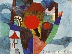 Paul Klee - Landschaft mit sinkender Sonne