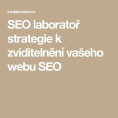 SEO laboratoř strategie k zviditelnění vašeho webu SEO