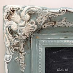painting picture frames in chalk paint to achieve an old french look