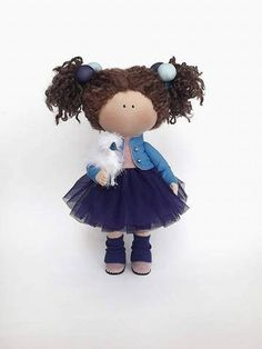 Blue Doll Nursery Doll Collectable Doll Cloth Doll Baby Doll Rag Doll Interior Doll Tilda Decor Doll Handmade Doll Fabric Doll by Irina E __________________________________________________________________________________________ Hello, dear visitors! This is handmade cloth doll