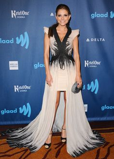 Maria Menounos arriving at the 24th Annual GLAAD Media Awards at the JW Marriott LA LIVE in Los Angeles, California - April 20, 2013 - Photo: Runway Manhattan/Bauer-Griffin