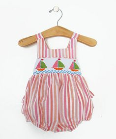 Another great find on #zulily! Pink Sailboat Romper - Infant by Vivi's Kids #zulilyfinds