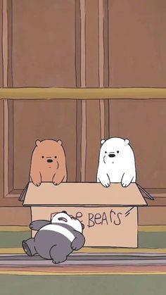 Bear Wallpaper, Kawaii Wallpaper, Cute Wallpaper Backgrounds, Cute Cartoon Wallpapers, Wallpaper Iphone Cute, Aesthetic Iphone Wallpaper, Disney Wallpaper, Ice Bear We Bare Bears, We Bear