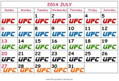 UFC's Calendar Craze