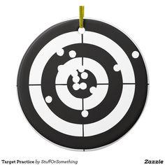 Target Practice Ceramic Ornaments (x2)