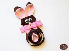 Chocolate Easter Bunny Hair Clip