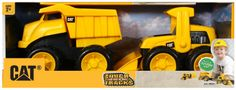 Toystate Caterpillar Construction 8'' Tough Tracks 2-Pack: Dump Truck And Wheel Loader  Free-wheeling construction trucks with kid-friendly styling No batteries required making it perfect for the sandbox Load up with the Wheel Loader and dump it out with the Dump Truck, with these combo packs you have everything you need to build away Made from tough plastic ready for indoor or outdoor play Recomennded for ages 2 and up  available at webmallforyou.com