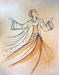 Original Painting Whirling Dervish Sufi Dance Rumi Miniature by AEDesignHouse on Etsy Whirling Dervish, Stencils, Islamic Patterns, Bagdad, Arabic Calligraphy Art, Iranian Art, Turkish Art, Mandala Drawing, Sufi