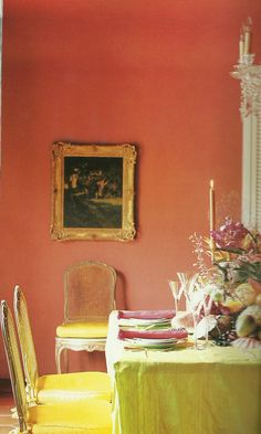 Exceptionnel Note The Coral Paint · Wall Paint ColorsDining Room ColorsColorful Interiors Interior ...