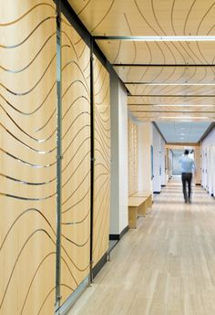 laser cut wood panels walls and ceiling