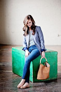jillgg's good life (for less) | a west michigan style blog: my everyday style: a chambray blazer!