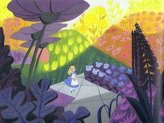 Mary Blair: original concept art for Disney's Alice in Wonderland.