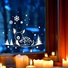 Window Art, Window Picture, Winter Drawings, Christmas Window Decorations, Theme Noel, Winter Pictures, Winter Landscape, Christmas Crafts, Merry Christmas