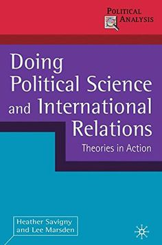 From 7.63:Doing Political Science And International Relations: Theories In Action (political Analysis) | Shopods.com