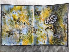 "CreaBoetiek Creations: Art Journal Page/pagina ""alone"" with a video tutorial; Apr 2014"