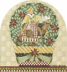 Melissa Shirley Designs | Hand Painted Needlepoint | Twelve Days of Christmas Eight Maids a-Milking � Debbie Mumm