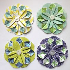 Image Result For Flat Origami Flowers