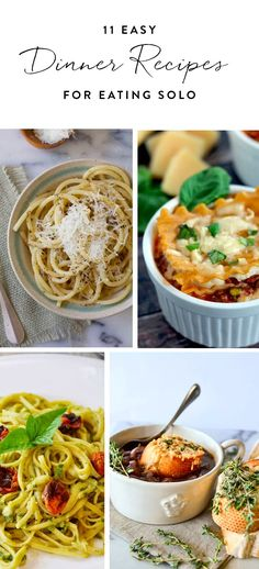 Make one of these scrumptious single-serve meals and bask in the glory of not having to eat lasagna for your next four lunches and dinners. Get all the recipes here.
