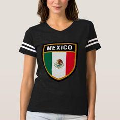 Mexico Flag T-shirt -  Mexico Flag                  ... #custom #print on demand art themed #gift #shirt design by #FLAGSKDR - #shirt #mexico #flag #unique #modern #cool #colors #texture #golden #symbol