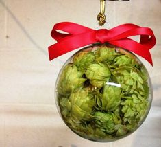 Holiday Hops Ball Glass Hops Ball Beer Hop by BlackCreekHops, $12.00