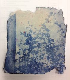 Palette inspiration for the east facing parlor and fainting room: Dawn and silhouettes, shadows and dewy light. I'd love to make a painting that felt like this. Unit cyanotype print on handmade paper Sun Prints, Foto Transfer, Alternative Photography, Cyanotype, Art Techniques, Fiber Art, Printmaking, Book Art, Art Photography