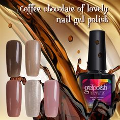 Modelones New Coffee Chocolate Series Gel Polish Nail Gel Soak Off UV Gel Polish Choose Any 1 Color Nail Gel ** View the item in details by clicking the VISIT button