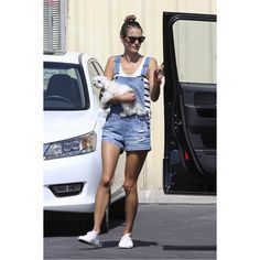 Black Orchid Short Overalls as seen on Alessandra Ambrosio