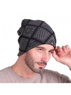 Beanie Hat Knit Warm Hat Winter Skull Wool Cap Windproof for Men   Women -  Dark Grey - C91885N4DGW df3c08c92cae