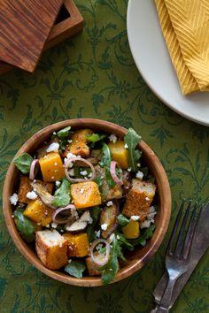 Salada de pêssego e requeijão