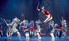 The Mouse King faces the Nutcracker in English National Ballet's production at the Coliseum, London. Photograph: Tristram Kenton for the Guardian