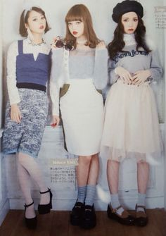 Larme Kei with Risa Nakamura Harajuku Fashion, Japan Fashion, Kawaii Fashion, Lolita Fashion, Cute Fashion, Daily Fashion, Vintage Fashion, Fashion Outfits, Fashion Images