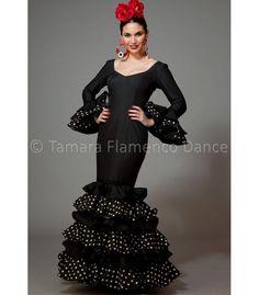 Dalia negro lunuares blancos - trajes de flamenca 2016 mujer - Aires de Feria
