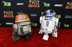 Chopper and - in Century City, CA on Saturday, September 2014 Star Wars Droids, Star Wars Rebels, Star Trek, R2 D2, Chopper, Pop Culture, Battle, September, Bb8
