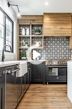 Kitchen Remodel TipsYou can find Sweet home and more on our website.Kitchen Remodel Tips Home Decor Kitchen, Interior Design Kitchen, Home Kitchens, Kitchen Dining, Room Kitchen, Kitchen Shelves, Island Kitchen, Home Design, Design Design
