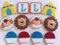 Circus-theme cookies from Etsy