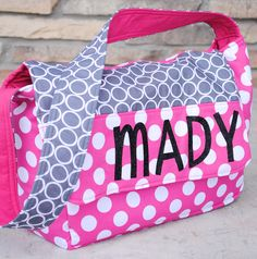 Personalized Kids Messenger Bag Tutorial