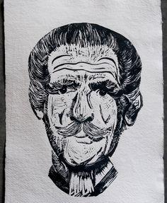Linocut Prints, Art Prints, Old Men, Hand Carved, I Shop, Carving, Stamp, The Originals, Paper