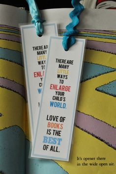 Happy Birthday Dr. Seuss (March 2nd)! Download a free simple printable bookmark.